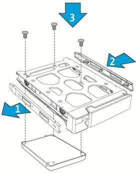 Install and Hot-swap Hard Drives | QNAP NAS Hardware User Manual